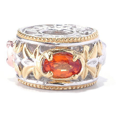 128-738 - Gems en Vogue Morganite, Opal and Orange Sapphire ''Three Amigos'' Charm