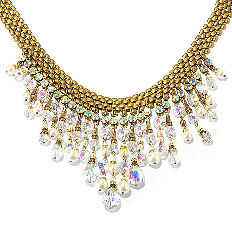 128-793 - Sweet Romance™ Crystal & Glass 16'' 1950s-Inspired Collar Necklace