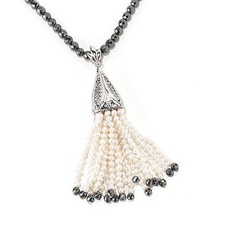 129-028 - Dallas Prince Sterling Silver Multi Gem Pendant Made w/ Swarovksi® Marcasite