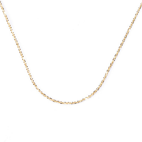 129-389 - Scintilloro™ Gold Embraced™ Diamond Cut Margherita Chain Necklace