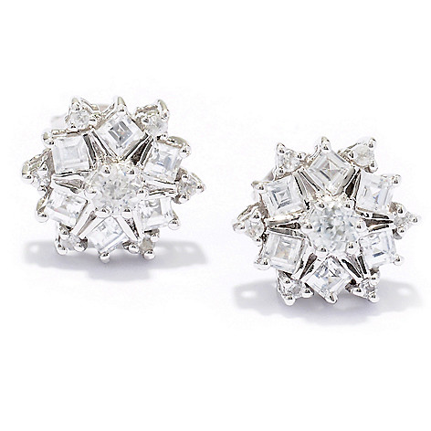 129-408 - NYC II 1.00ctw White Zircon Stud Earrings