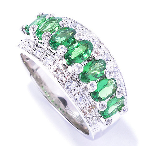 129-416 - NYC II 2.08ctw Tsavorite & White Zircon Band Ring
