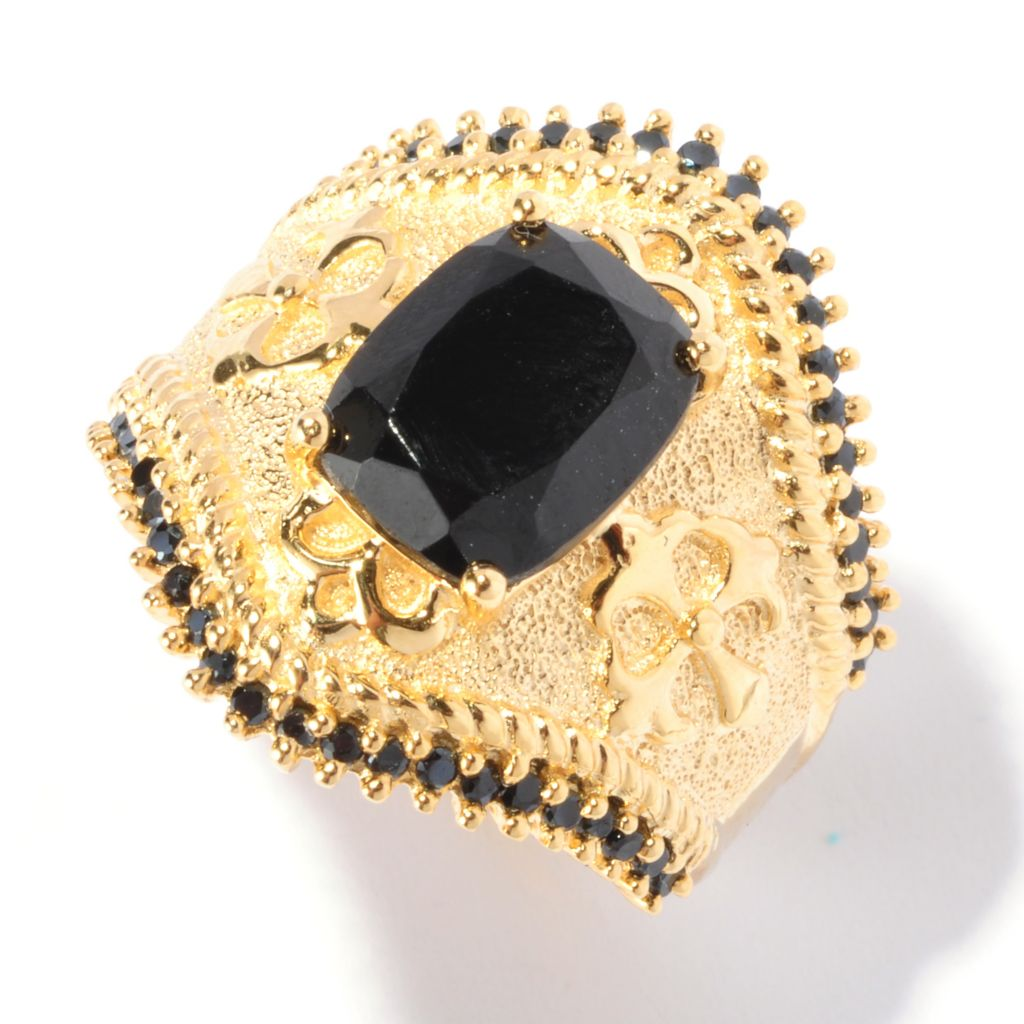 129-430 - NYC II 10 x 8mm Black Spinel Textured Ring