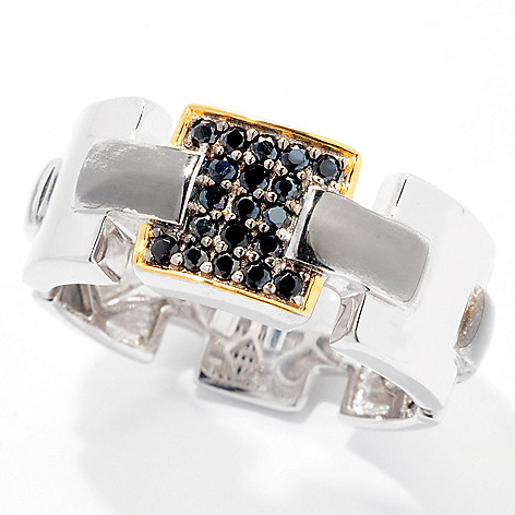 129-449 - Men's en Vogue II Gemstone Link Design Eternity Band Ring