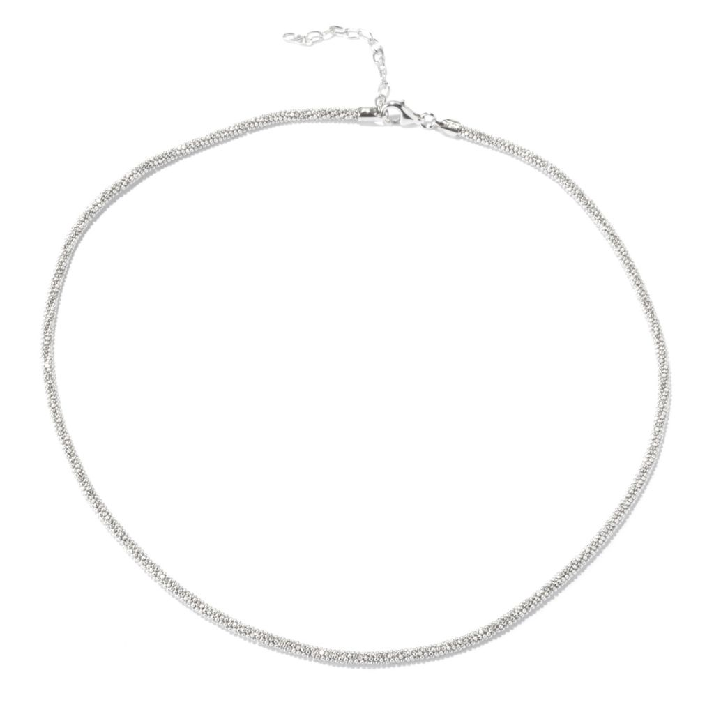 "129-517 - Palatino™ Platinum Embraced™ 18"" Diamond Cut Beaded Necklace"