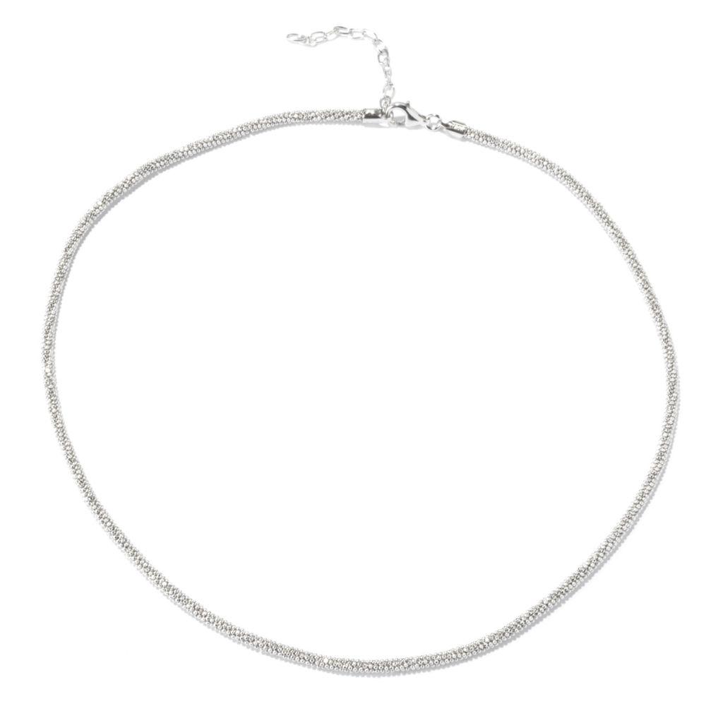 "129-517 - Palatino™ Platinum Embraced™ 18"" Diamond Cut Beaded Necklace"