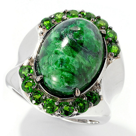 129-531 - Men's en Vogue II 18 x 13mm Maw Sit Sit & Chrome Diopside Polished Ring