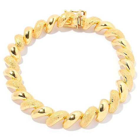 129-539 - Portofino Gold Embraced™ 8'' Alternating Texture ''San Marco'' Bracelet