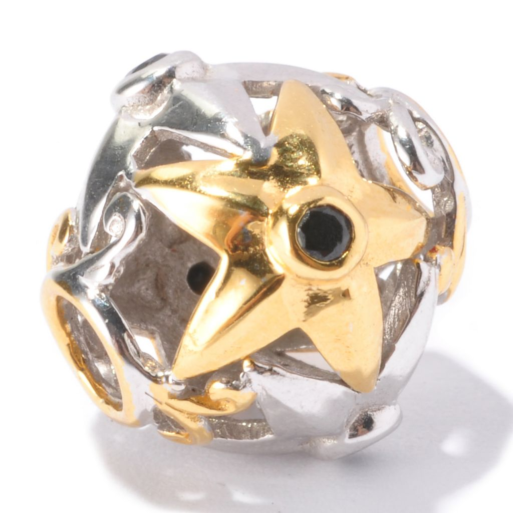 129-542 - Gems en Vogue Black Spinel Star Slide-on Charm