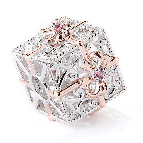129-544 - Gems en Vogue Pink Tourmaline Gift Box Slide-on Charm