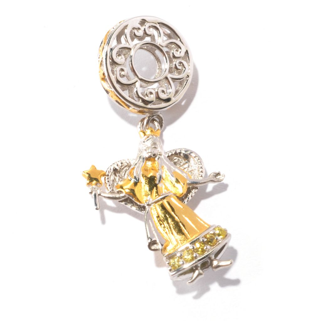 129-545 - Gems en Vogue II Yellow Sapphire Angel Drop Charm