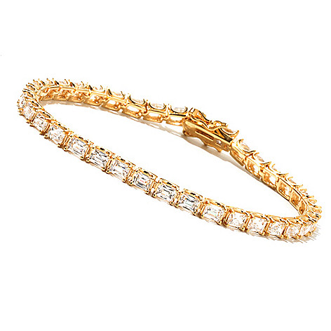 129-777 - TYCOON Rectangle Baguette TYCOON CUT Simulated Diamond Tennis Bracelet