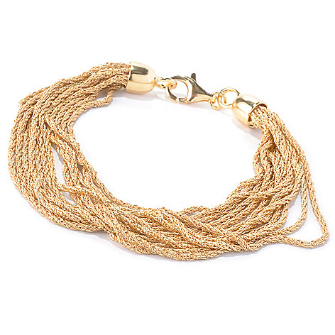 129-854 - Portofino Gold Embraced™ 8'' Twisted Chain Multi Strand Bracelet