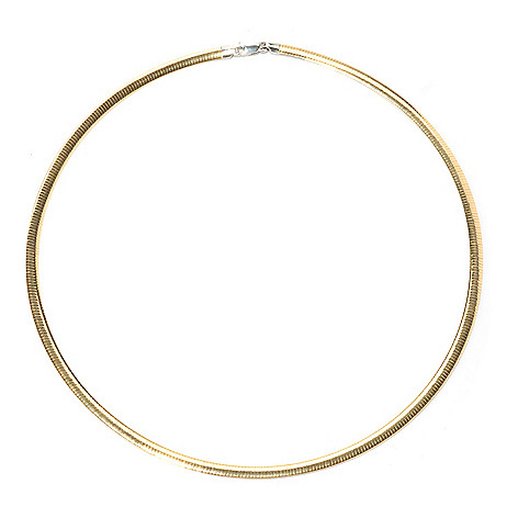 129-860 - Portofino Gold Embraced™ & Platinum Embraced™ Reversible Omega Necklace