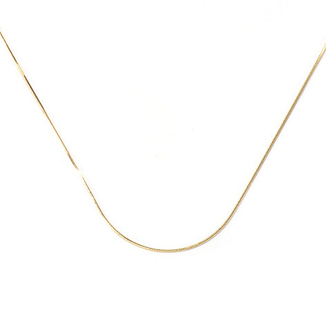 129-867 - Portofino 18K Gold Embraced™ 30'' Adjustable Snake Chain Necklace