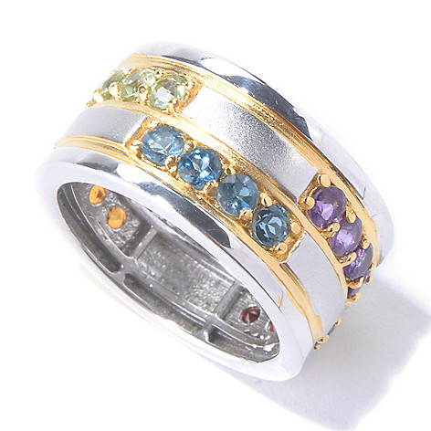 129-888 - Men's en Vogue II 2.52ctw Multi Gemstone Eternity Band Ring