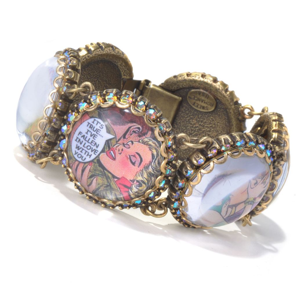 "129-903 - Sweet Romance™ 7.5"" Crystal ""Vintage Vixens"" Bracelet"