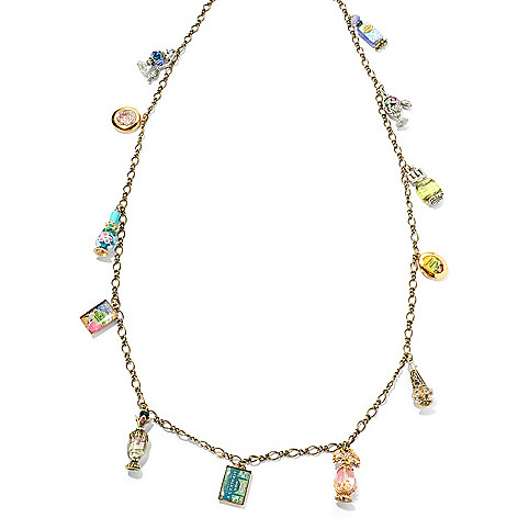 129-905 - Sweet Romance™ 41'' Perfume Charms & Lockets Necklace