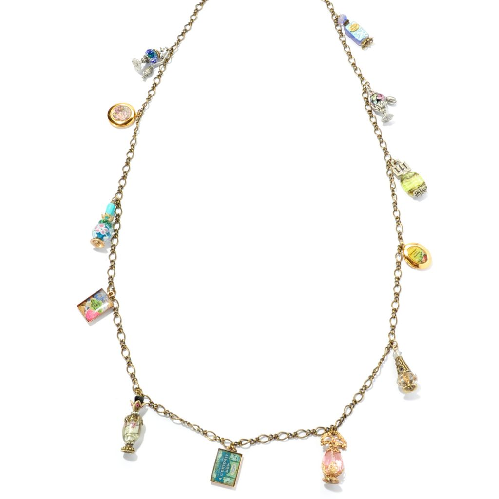 "129-905 - Sweet Romance™ 41"" Perfume Charms & Lockets Necklace"