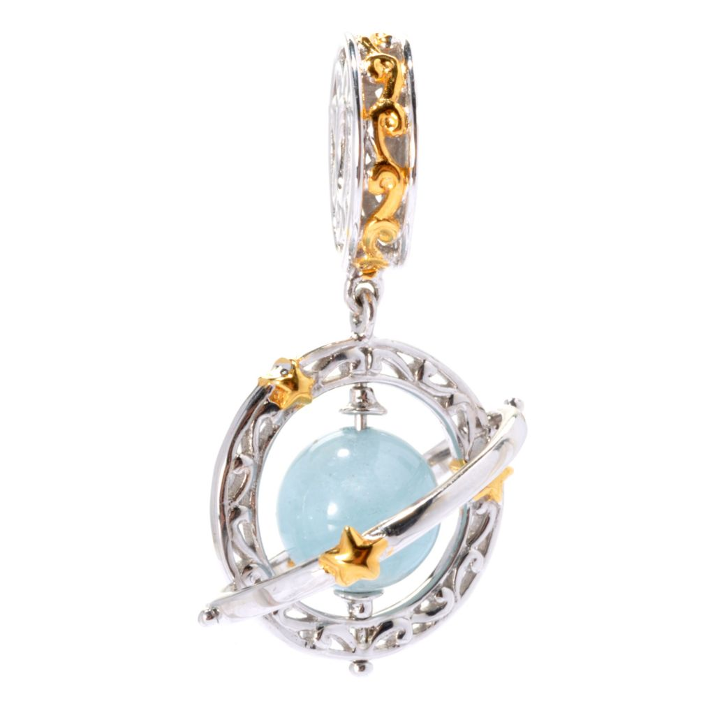 129-935 - Gems en Vogue Gemstone Bead Galaxy Drop Charm