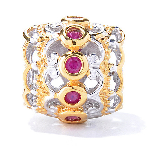 129-937 - Gems en Vogue II Two-tone Ruby Slide-on Charm