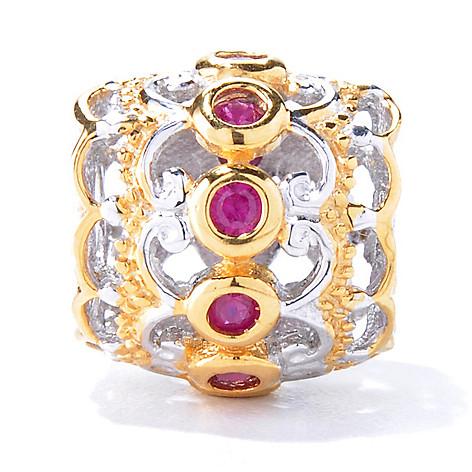 129-937 - Gems en Vogue Two-tone Ruby Slide-on Charm