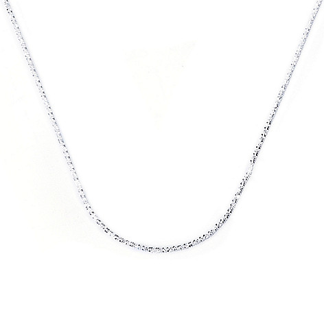 129-989 - SempreSilver® 24'' Sliding Heart Diamond Cut Chain Necklace