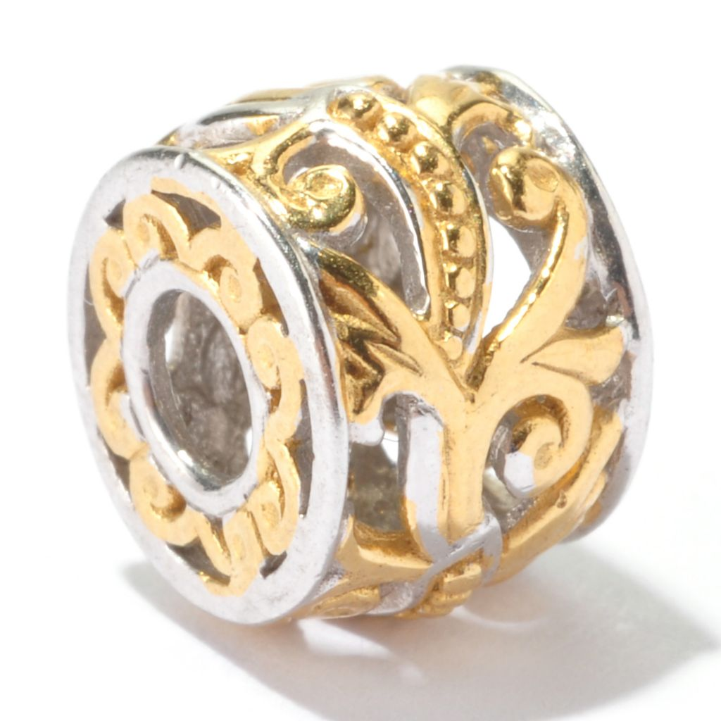 130-119 - Gems en Vogue Two-tone Swirling Vine Slide-on Charm