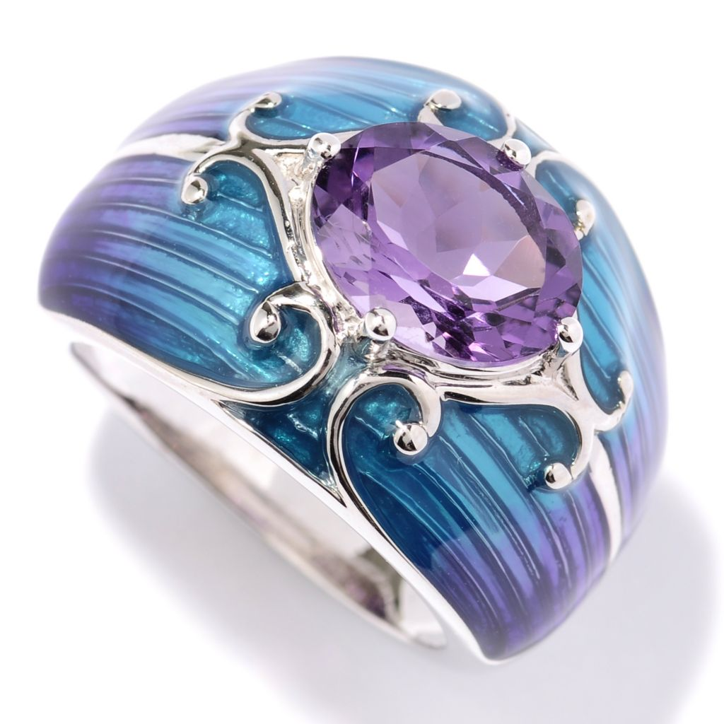 130-253 - NYC II 1.90ctw Amethyst & Gradated Enamel Ring