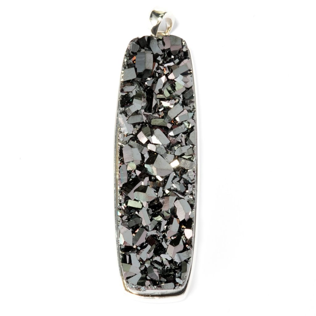 130-362 - Gem Insider 50 x 14mm Golden Drusy Elongated Pendant