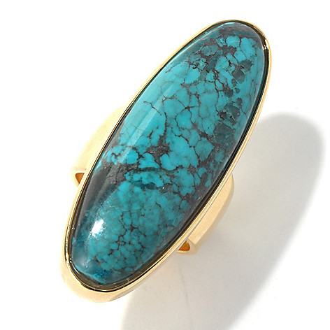 130-396 - Elements by Sarkash 38 x 13mm Turquoise Elongated Ring