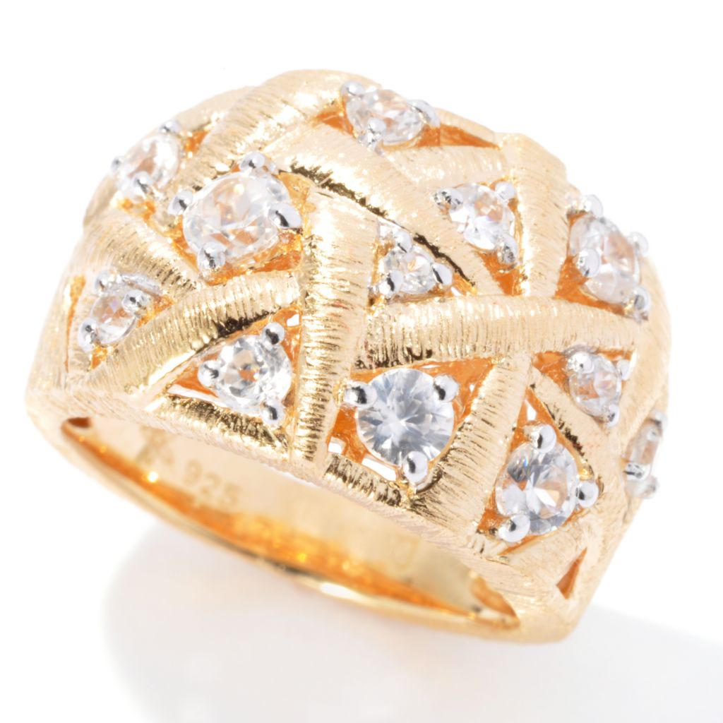 130-508 - Michelle Albala 1.14ctw White Zircon Interwoven Brushed Ring
