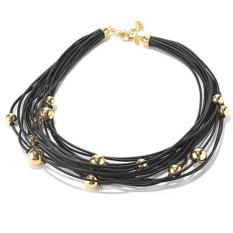 130-533 - Portofino Gold Embraced™ 18'' Multi Cord Scattered Bead Necklace