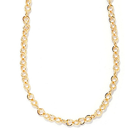 130-542 - Portofino Gold Embraced™ 20'' High Polished Double Rolo Link Necklace