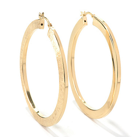 130-544 - Portofino Gold Embraced™ 1.75'' Textured & Polished Hoop Earrings