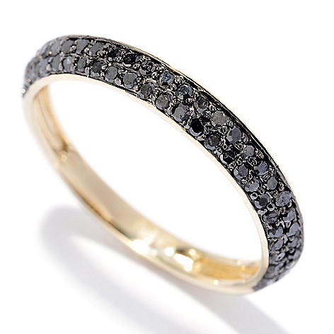 130-558 - Southport Diamonds Sterling Silver & 14K Vermeil 0.25ctw Diamond Bevel Band Ring