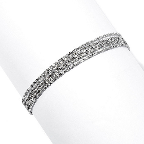 130-661 - Palatino™ Platinum Embraced™ 7.5'' Five-Strand Margherita Bracelet