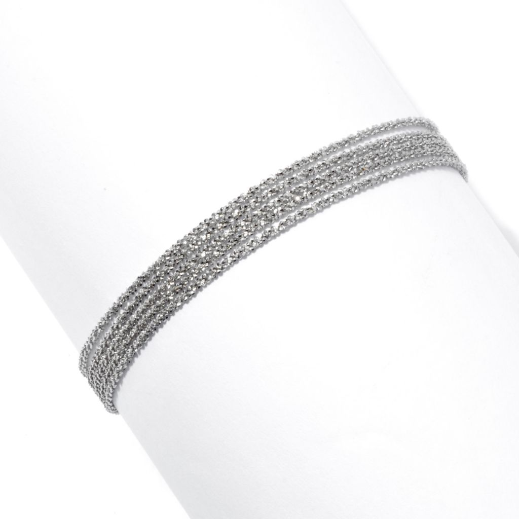 "130-661 - Palatino™ Platinum Embraced™ 7.5"" Five-Strand Margherita Bracelet"