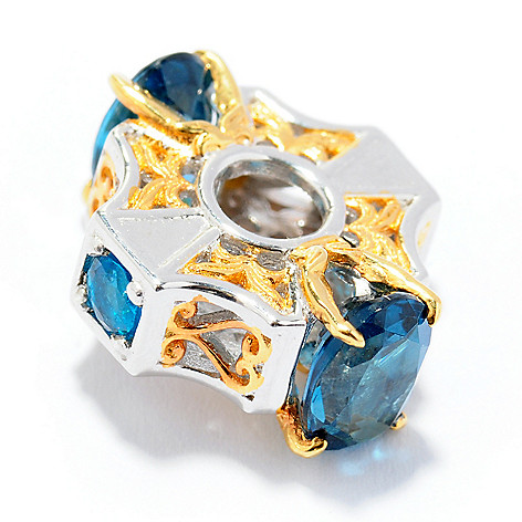 130-817 - Gems en Vogue II Multi Gemstone Four-Stone ''Victress'' Slide-on Charm
