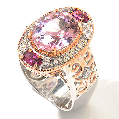 130-830 - The Vault from Gems en Vogue II 6.22ctw Kunzite & Multi Gemstone Polished Ring