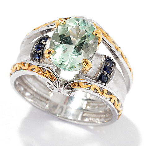 130-831 - The Vault from Gems en Vogue II 2.68ctw Amblygonite & Sapphire Ring