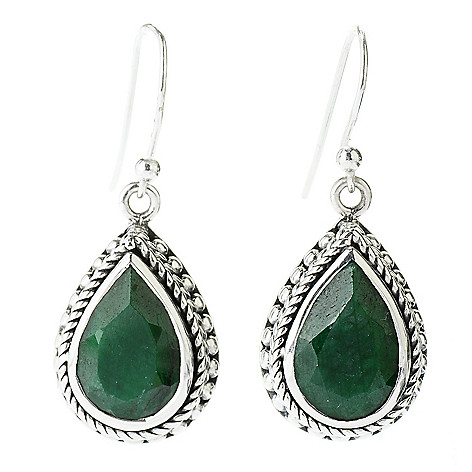 130-863 - Artisan Silver by Samuel B. Dyed Gemstone Teardrop Earrings