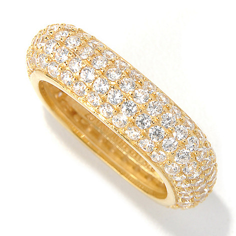 130-880 -  Brilliante® 2.76 DEW Simulated Diamond Polished Square Eternity Band Ring