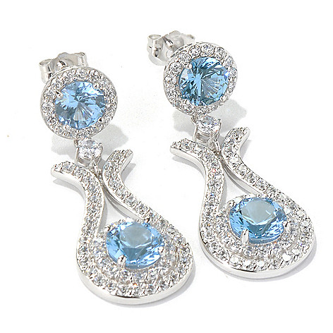 130-923 - Dare to Rare™ by Lucy Platinum Embraced™ 1.5'' 6.56 DEW Simulated Diamond Earrings