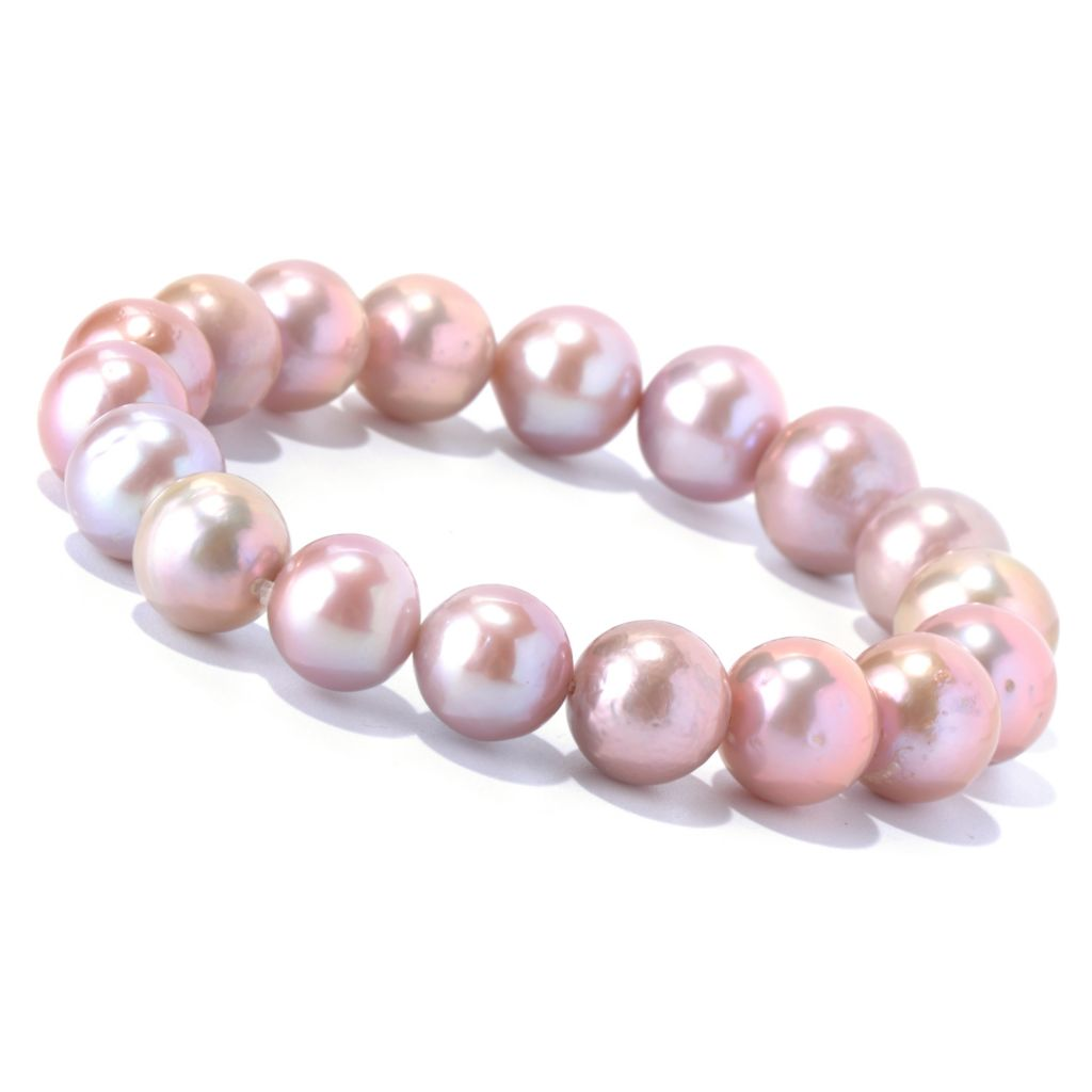 131-000 - 10-13mm Pink Natural Colored Edison Freshwater Cultured Pearl Bracelet