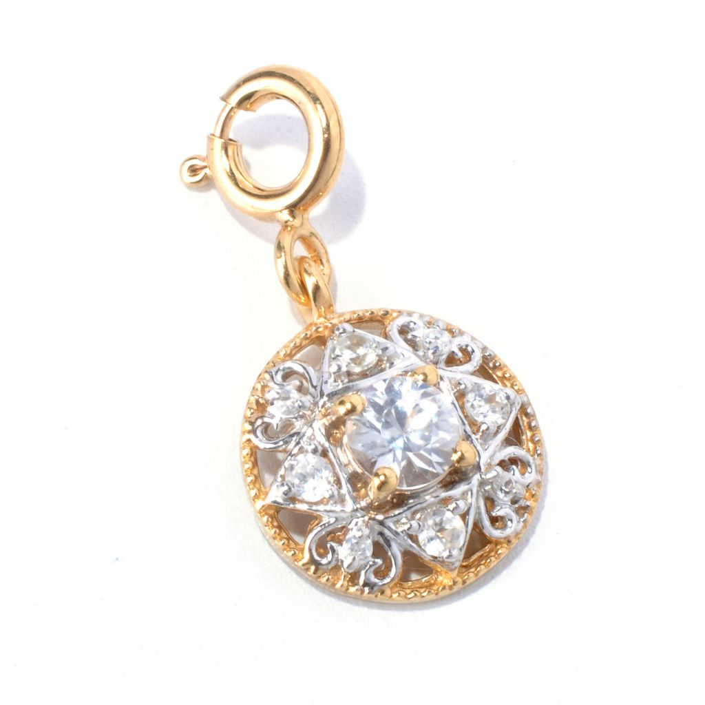 131-020 - NYC II White Zircon Round Drop Charm