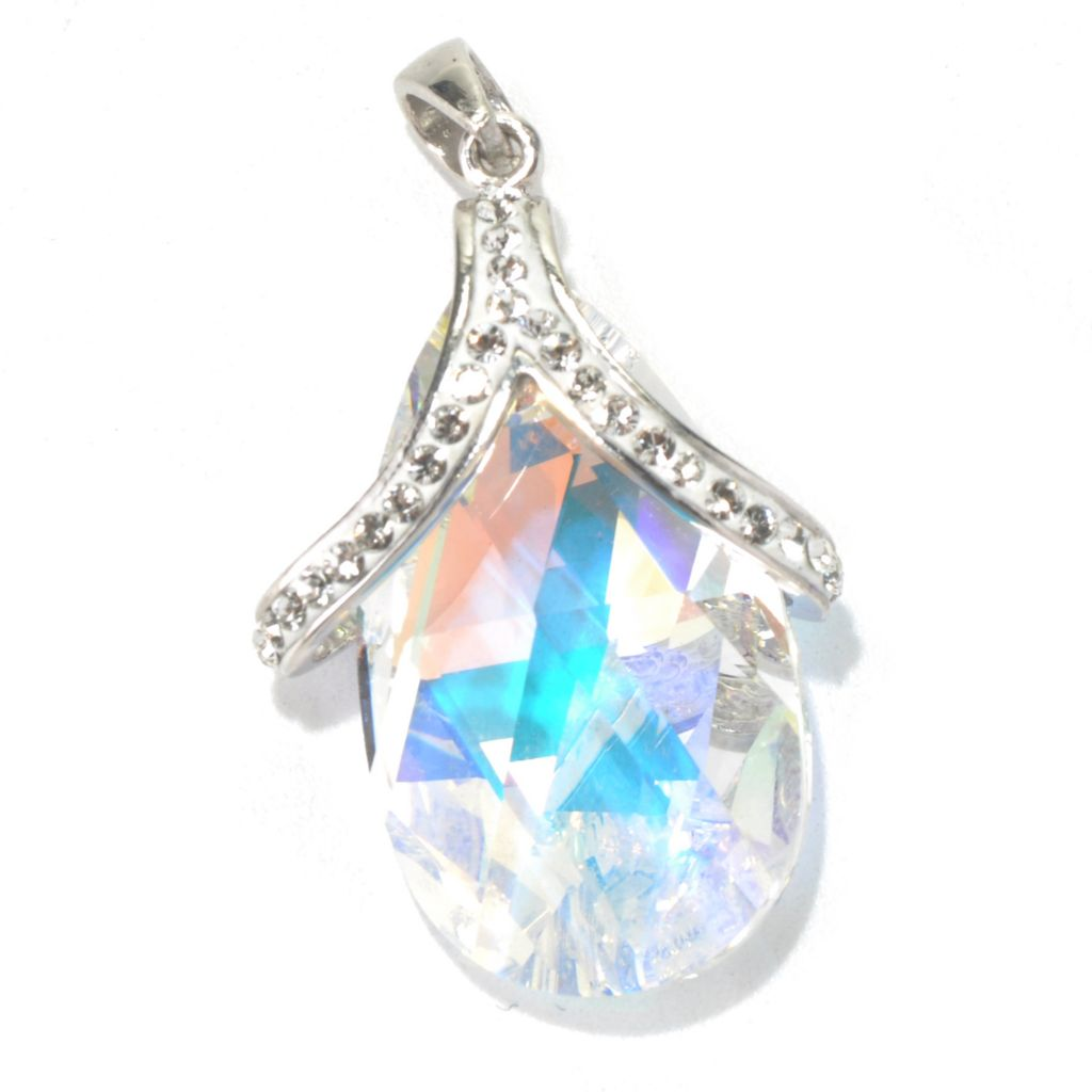 131-024 - Adaire™ Sterling Silver Teardrop Pendant Made w/ Swarovski® Elements