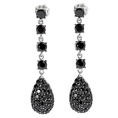 131-084 - NYC II® 1.75'' Black Spinel Elongated Drop Earrings