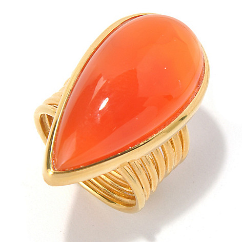 131-114 - Gems of Distinction Pear Shaped 28 x 14mm Carnelian Ring