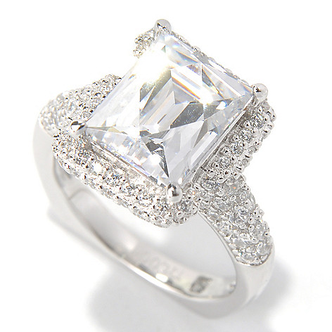 131-134 - TYCOON Platinum Embraced™ 4.53 DEW Simulated Diamond Pave Wrap Halo Ring